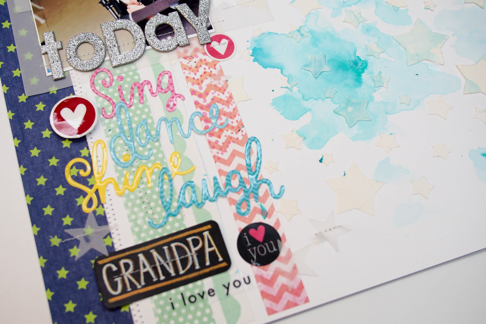 Happy Father's Day Grandpa layout on the mambi blog.