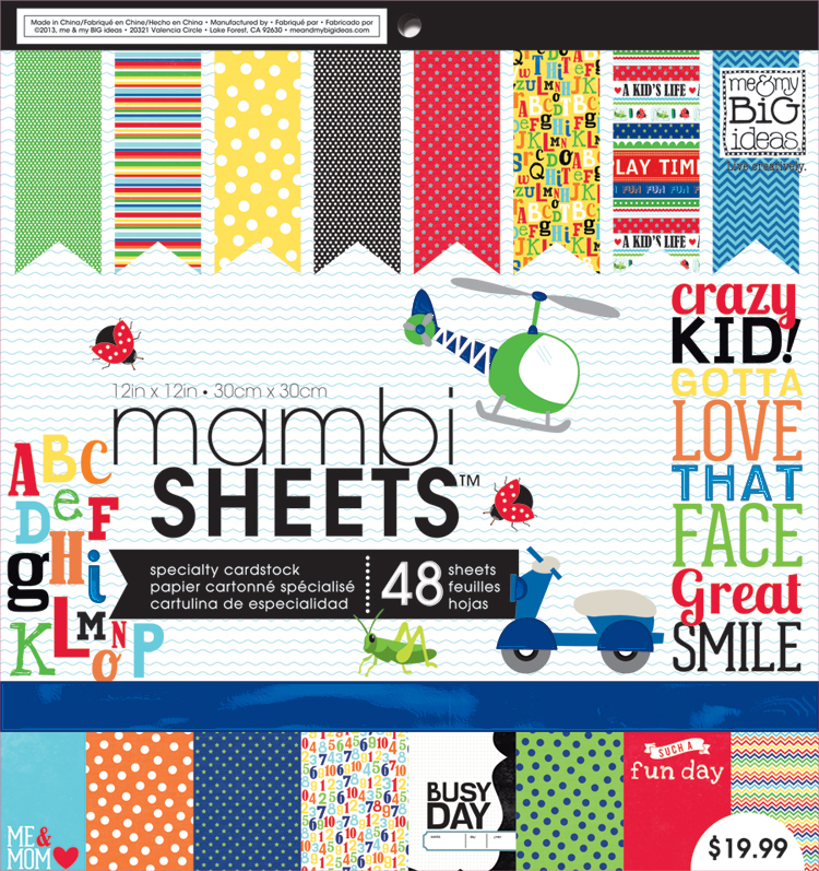 Cool kids mambiSHEETS paper pad used for paper crafting, scrapbooking and more.