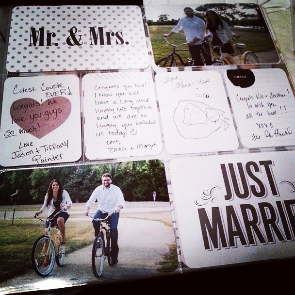 mambi blog wedding signature book using POCKET PAGES.  Easy DIY wedding book.