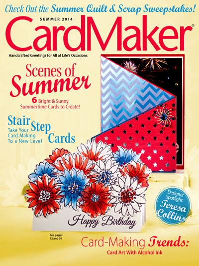 CardMaker magazine with mambi tri-fold card on the cover!