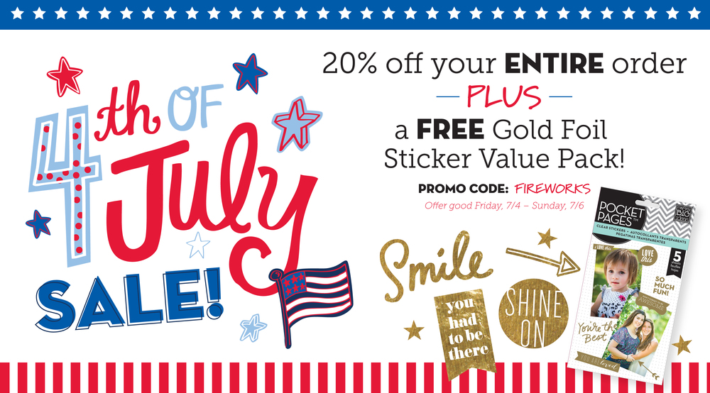 4th of July sale in the mambiSHOP this weekend!  Plus you get a FREE gold sticker pack with your order!