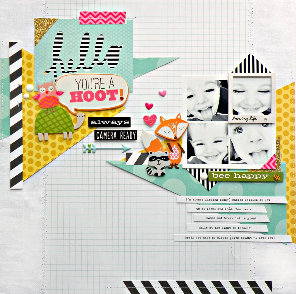 You're a HOOT scrapbook page on the mambi blog.