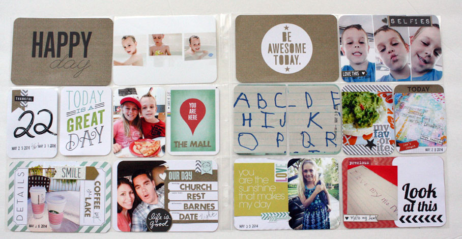 POCKET PAGES scrapbook page on the mambi blog.