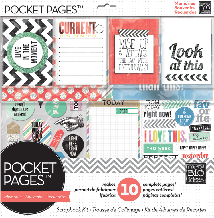 Right now POCKET PAGES kit.  Everything you need to some awesome photos.  Cards & embellishments.