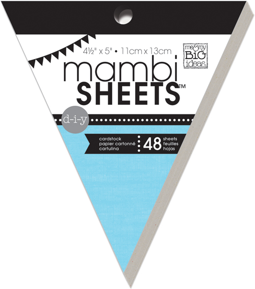 mambiSHEETS mini banner pad multi colored.  Easy way to make a banner or embellish anything!