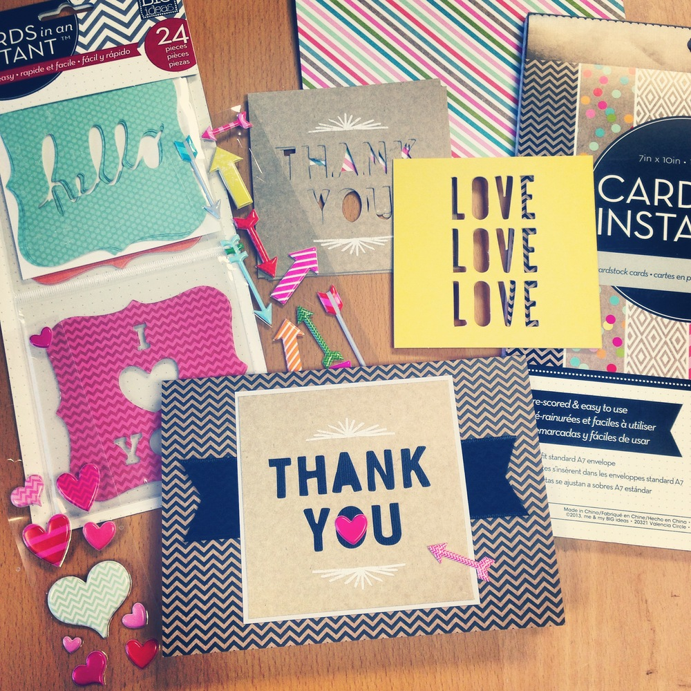 Thank you cards using CARDS in an INSTANT by mambi.
