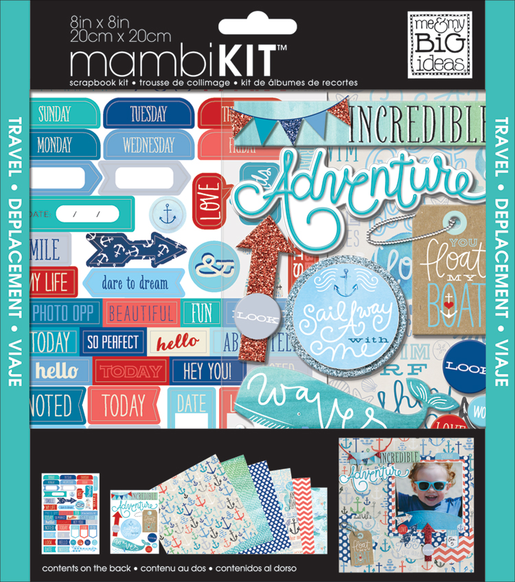 Ahoy scrapbook 8x8 page kit.