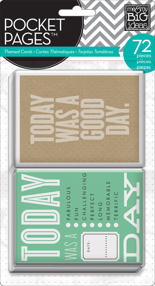 POCKET PAGES: Today themed project life style cards for scrapbooking.