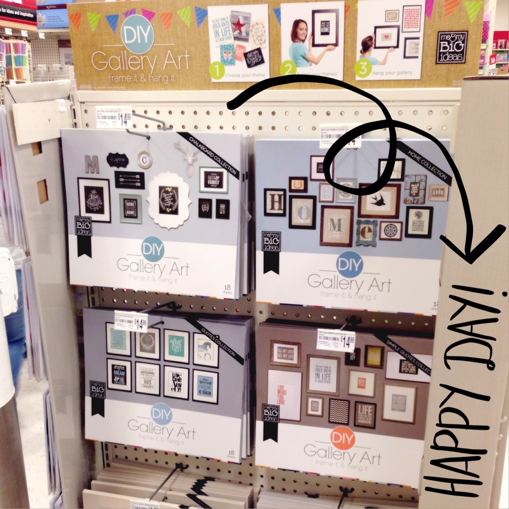 DIY gallery wall pads by me & my BIG ideas are in Michaels stores NOW.