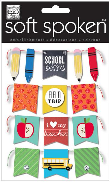 'School Days' soft spoken embellishment stickers | me & my BIG ideas