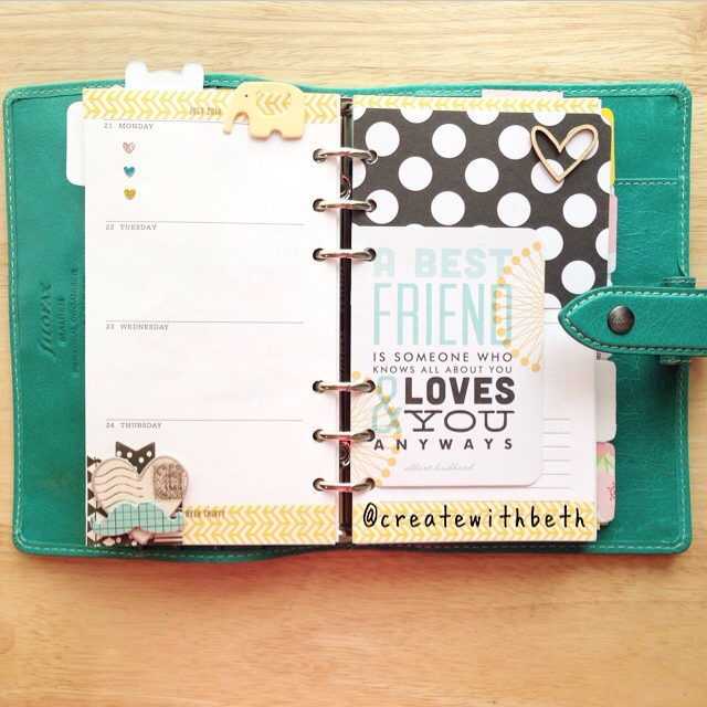 @createwithbeth using mambi product in her planner | me & my BIG ideas