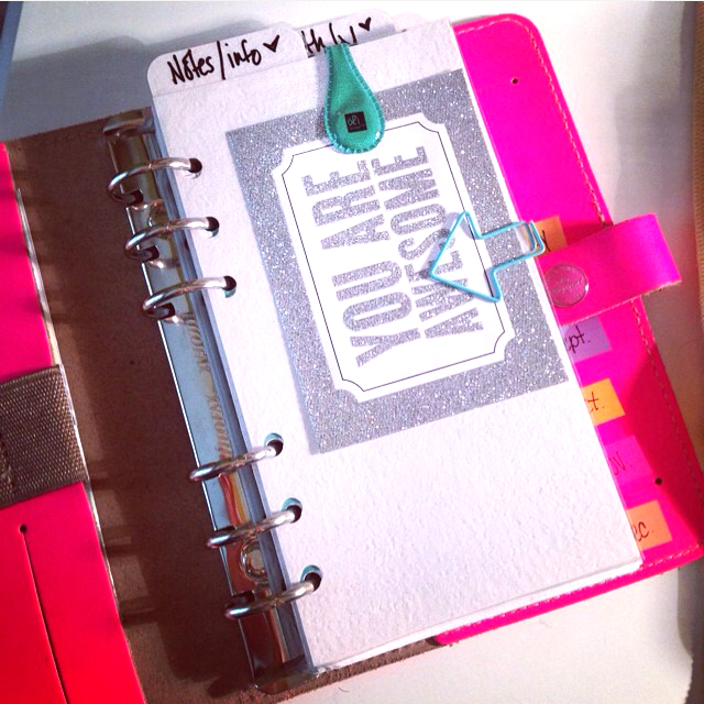 @filophia24 using mambi product in her planner | me & my BIG ideas