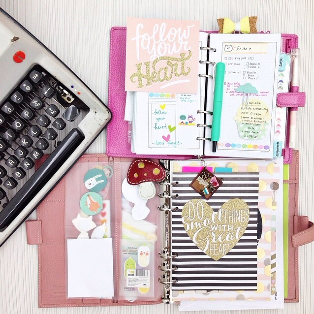 @happiescrappie using mambi product in her planner | me & my BIG ideas