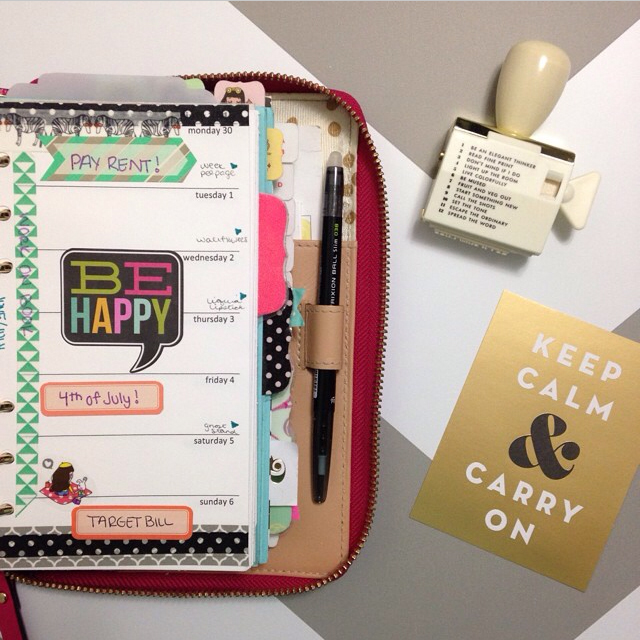 @misstrenchcoat using mambi product in her planner | me & my BIG ideas