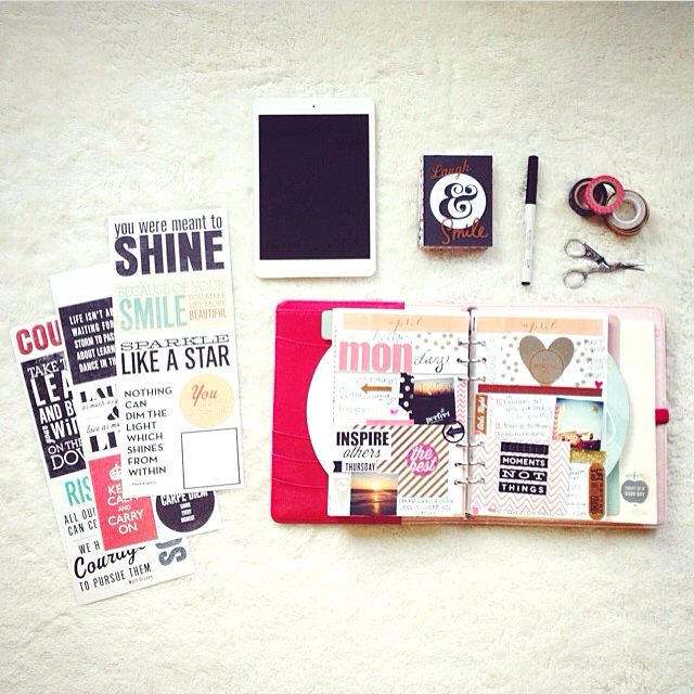@madeincali49 using mambi product in her planner | me & my BIG ideas