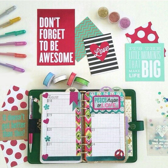 @virtuous1g using mambi product in her planner | me & my BIG ideas