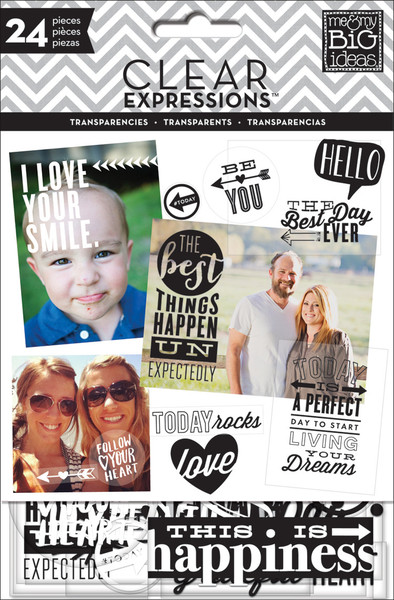 Black and White Transparencies for crafting and scrapbooking.