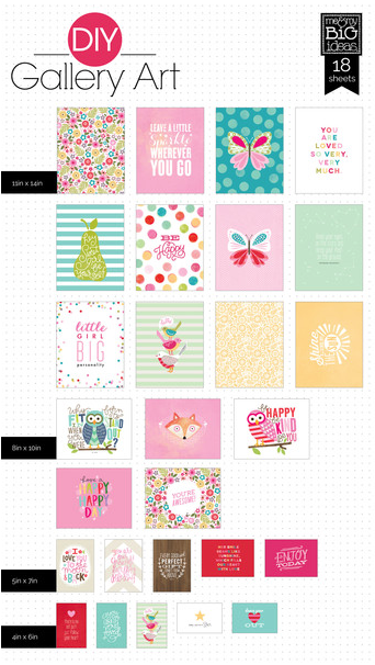 'Girl' mambi DIY GALLERY Art Pad | me & my BIG ideas