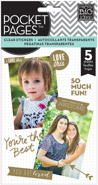 Clear Stickers - Gold Foil mambiSTICKS | me & my BIG ideas