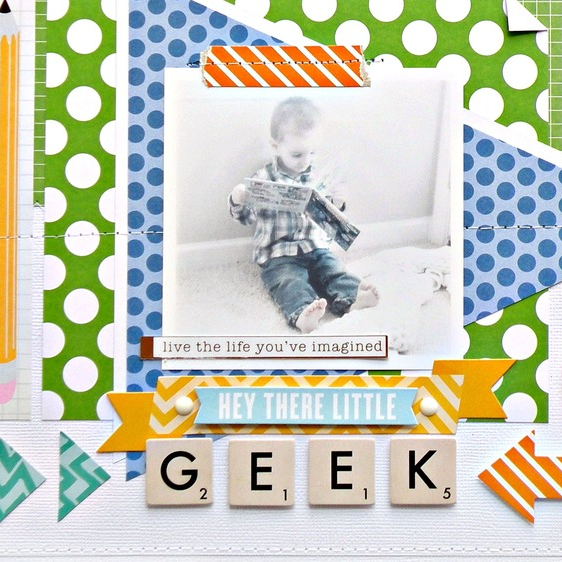 'Little Geek' Scrapbook Page by Stephanie Buice