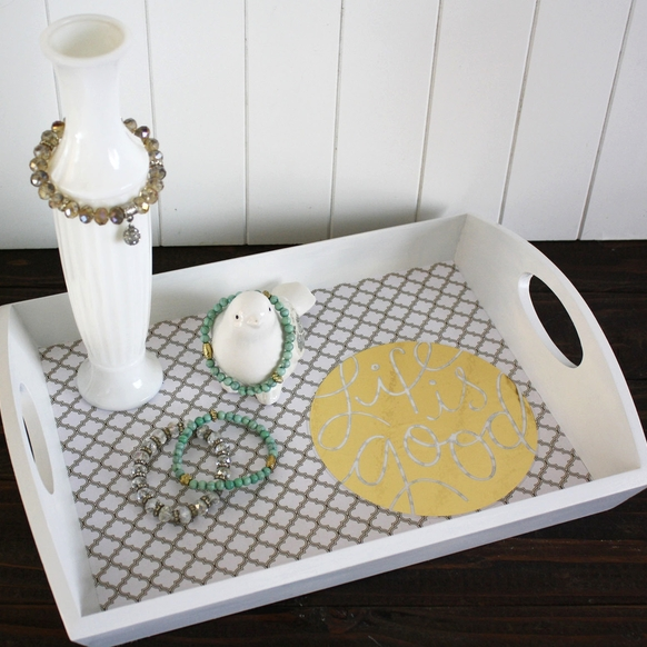 'Life is Good' DIY decor tray by Jen Randall