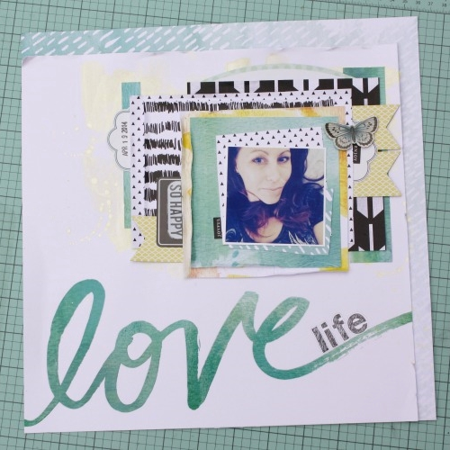 'Love Life' Scrapbook Page by Jen Randall
