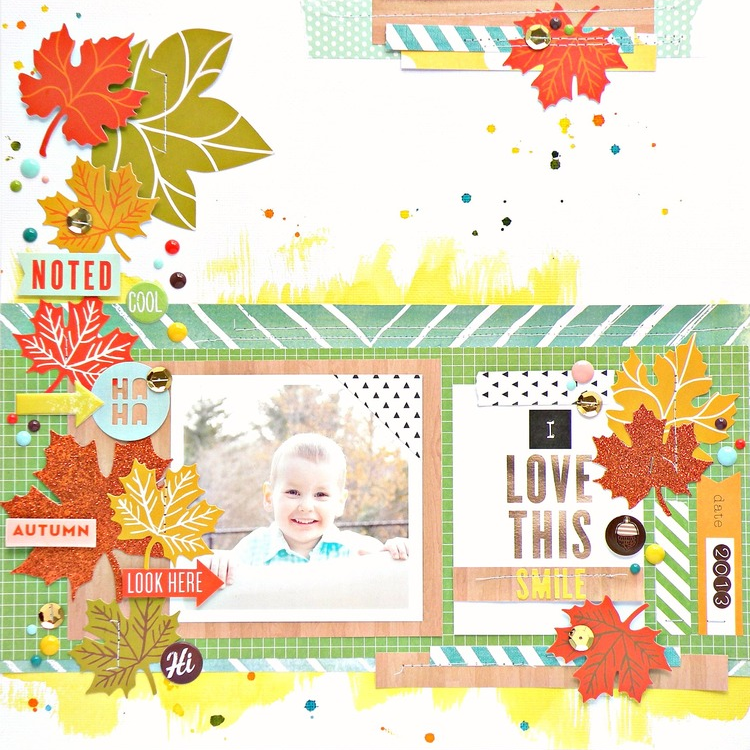 'I Love This Smile' Scrapbook Page by Stephanie Buice