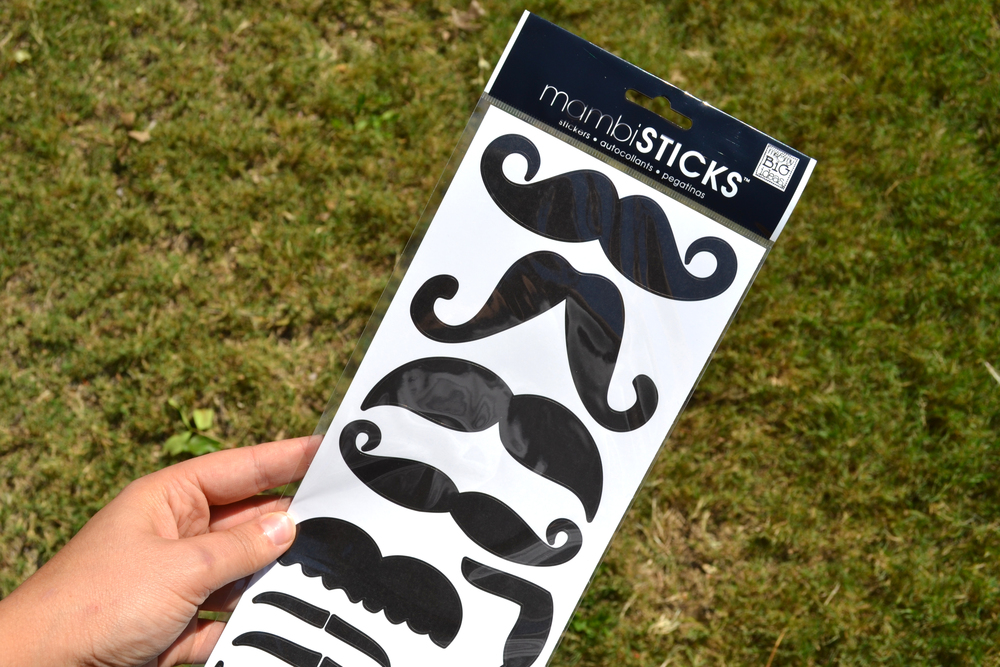 mustache mambiSTICKS on painted pumpkins for Halloween | me & my BIG ideas