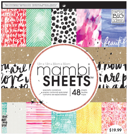 Paint Palette mambiSHEETS 12x12 paper pad | me & my BIG ideas