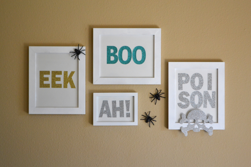 BOO EEK AH! wall art using jumbo glitter alpha mambiSTICKS | me & my BIG ideas