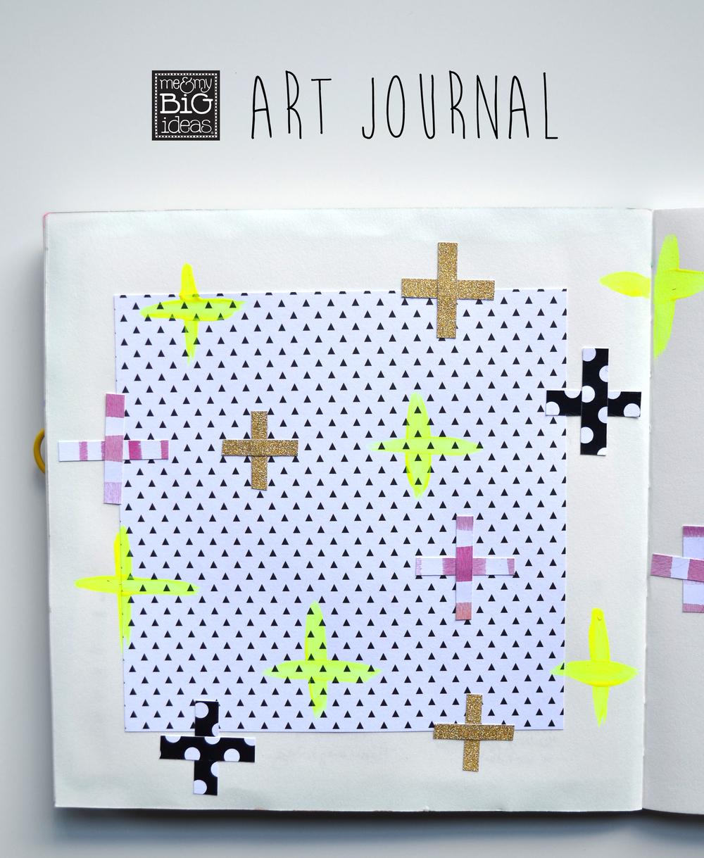 art journal using mambiSHEETS by Amanda Rose Zampelli   me & my BIG ideas