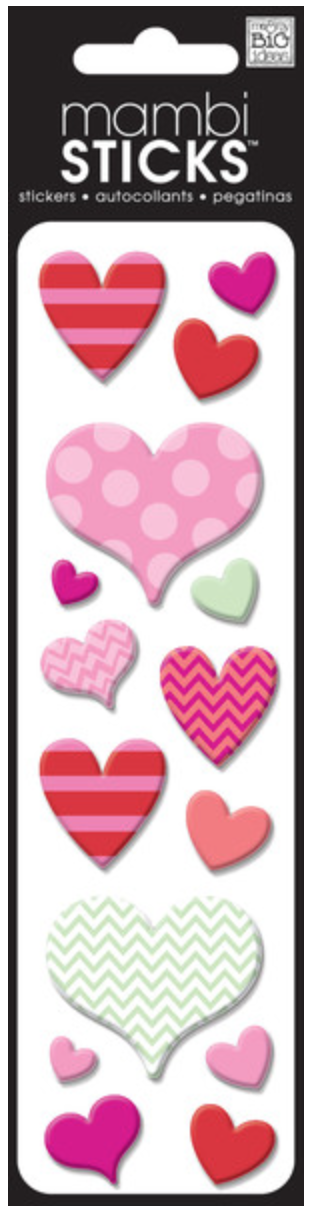 Assorted Hearts puffy mambiSTICKS | me & my BIG ideas