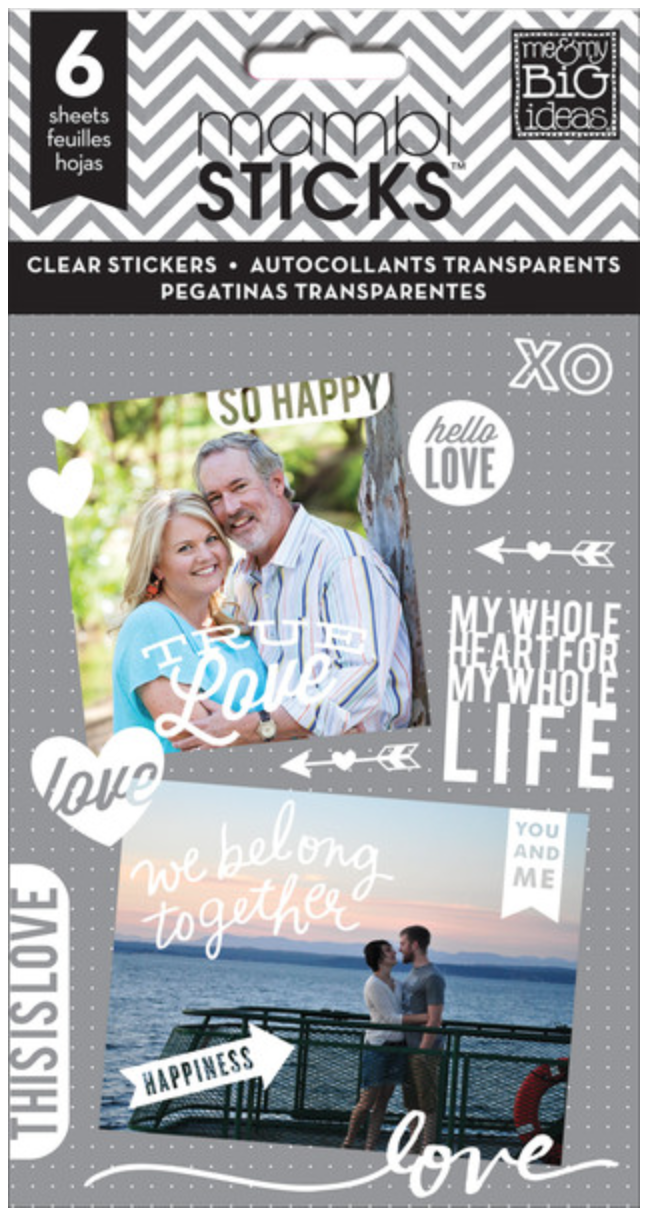 'So Happy' white clear mambiSTICKS stickers | me & my BIG ideas
