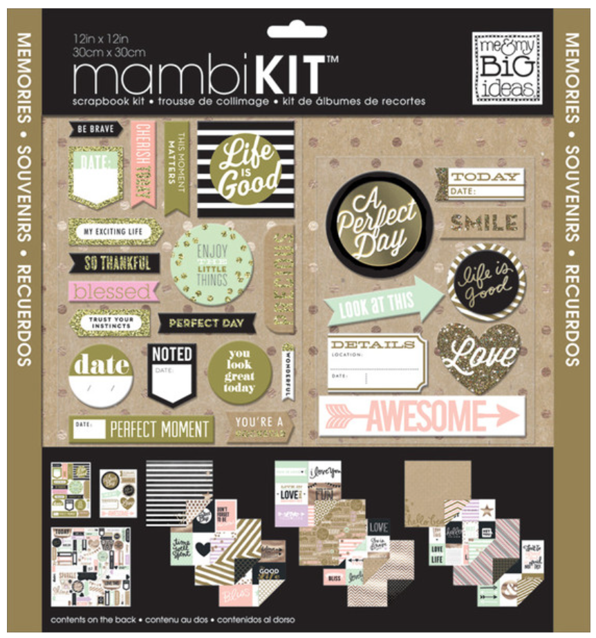 'Life is Good' 12x12 mambiKIT scrapbook kit | me & my BIG ideas
