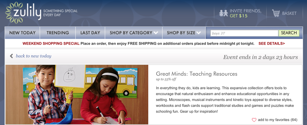 Zulily's Great Minds: Teaching Resources event