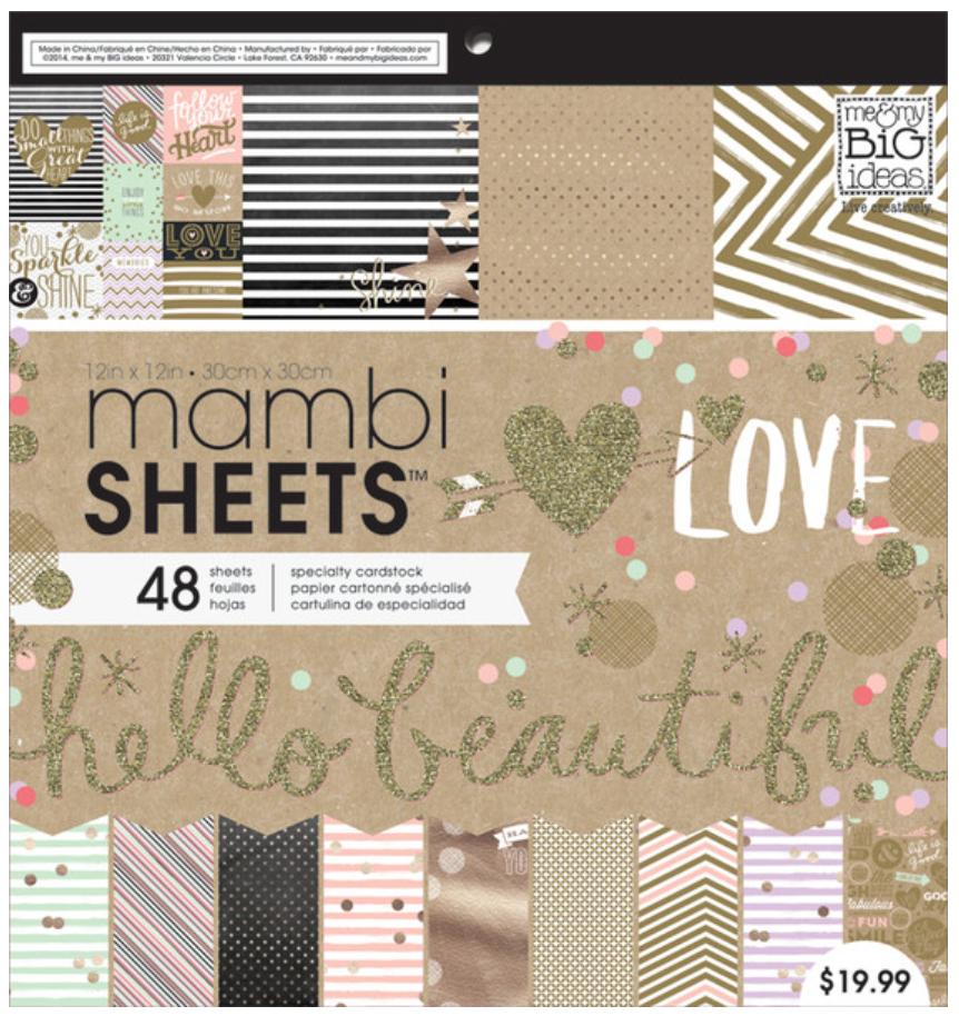 Gold Rush 12x12 mambiSHEETS paper pad   me & my BIG ideas