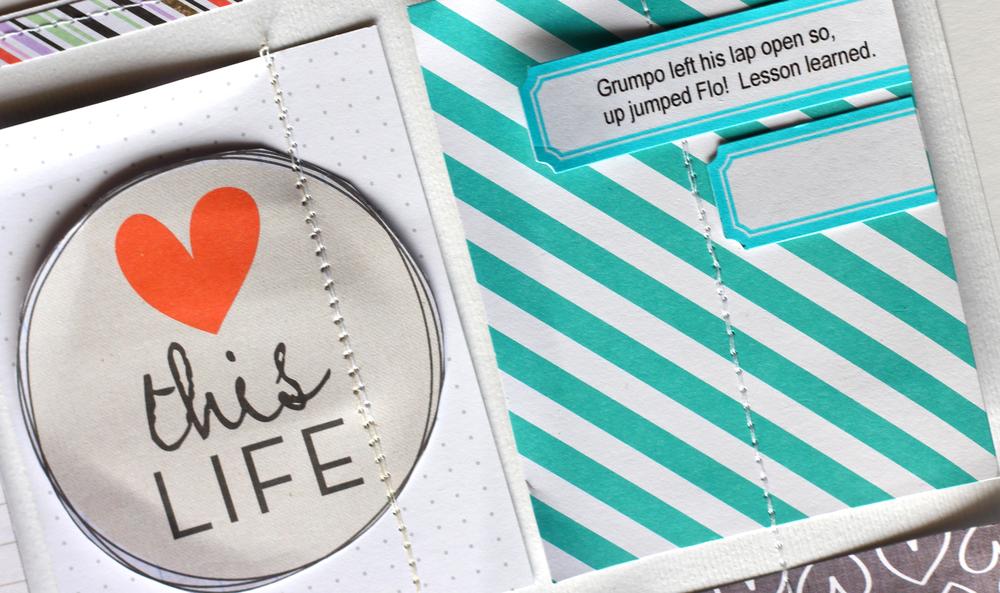 'Open Lap' scrapbook page by Design Team member Mary-Ann Maldonado   me & my BIG ideas