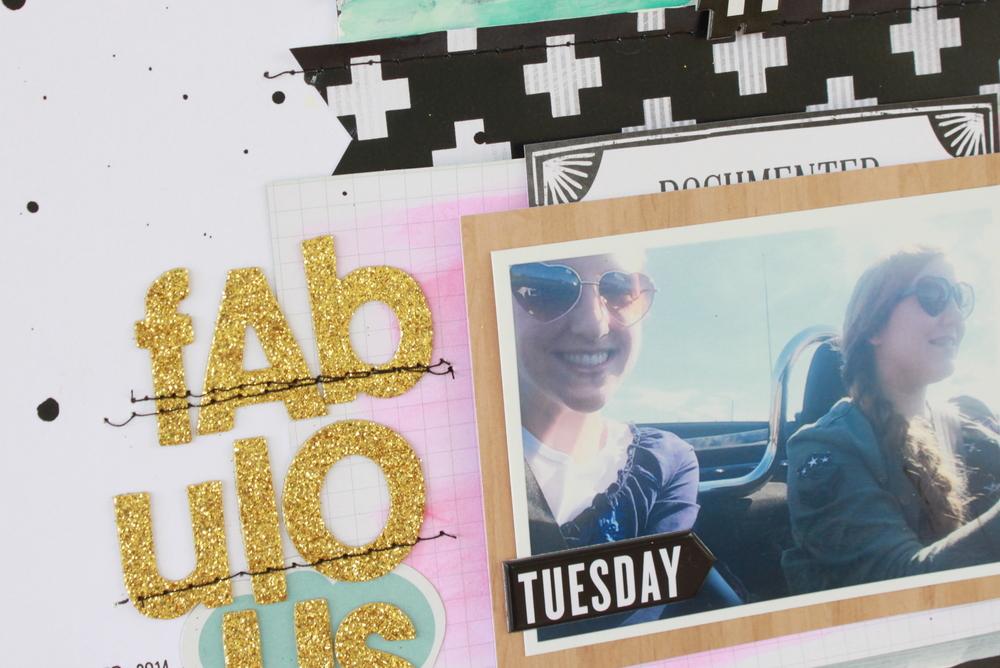 'Fabulous' scrapbook page by mambi Design Team member Heather Adams   me & my BIG ideas