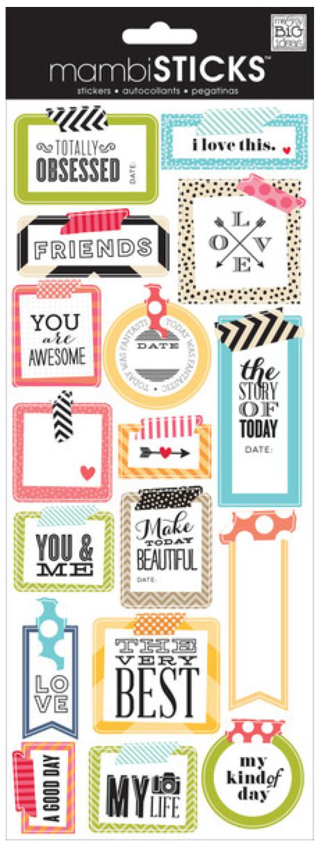 Washi Tape Today mambiSTICKS stickers   me & my BIG ideas