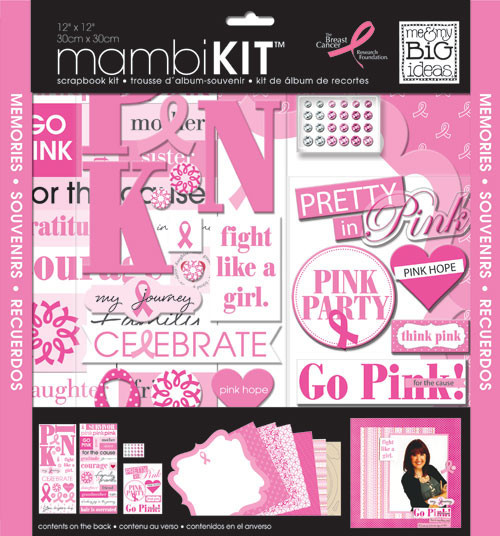'Pretty in Pink' 12x12 mambiKIT scrapbooking kit | me & my BIG ideas