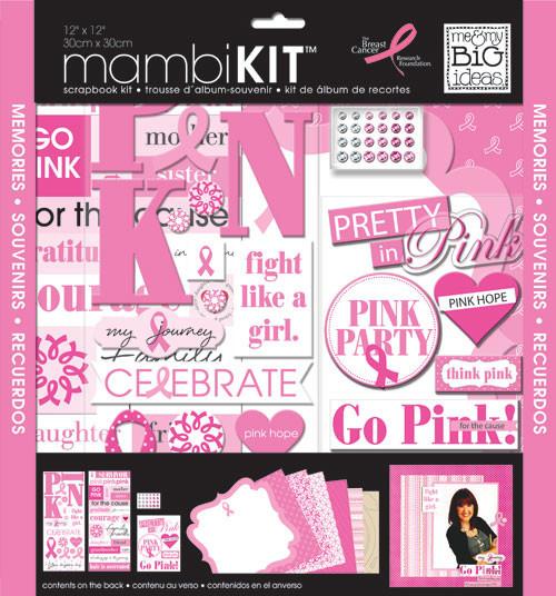 'Pretty in Pink' 12x12 mambiKIT scrapbooking kit   me & my BIG ideas