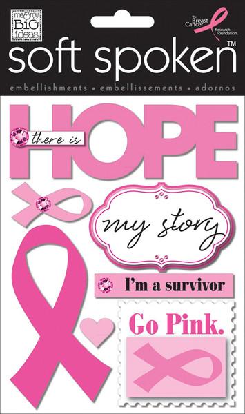 'Hope' Breast Cancer mambiSTICKS soft spoken stickers   me & my BIG ideas