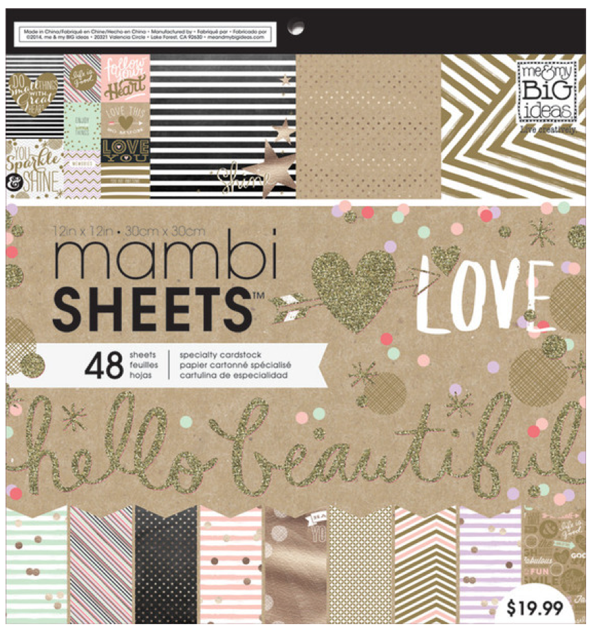 Gold Rush 12x12 mambiSHEETS paper pad | me & my BIG ideas