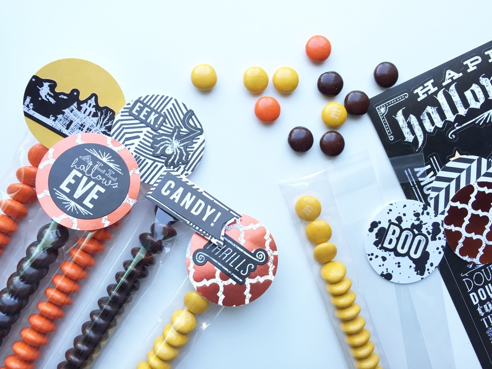Halloween Candy Toppers by mambi Design Team member Theresa Doan | me & my BIG ideas