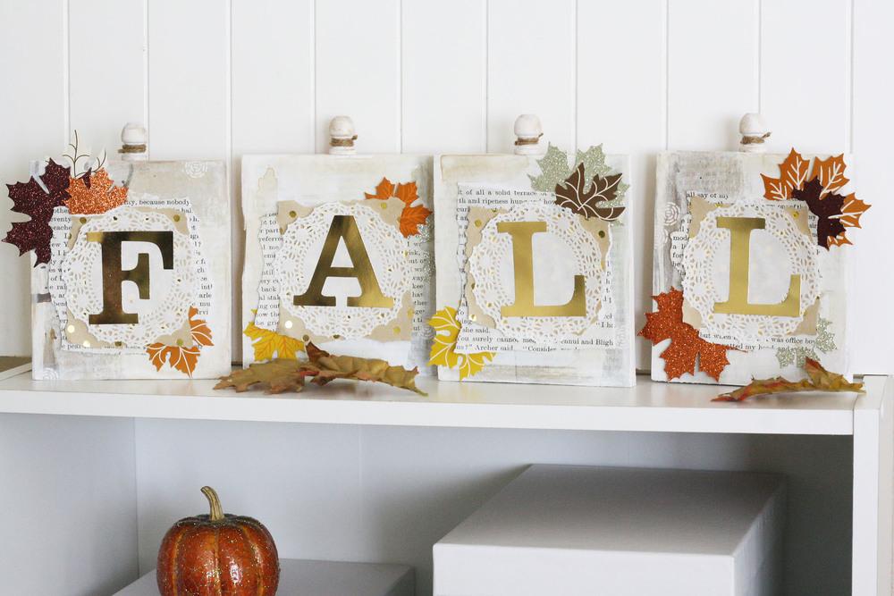 Fall Wood Word Blocks by mambi Design Team member Jen Randall   my & my BIG ideas
