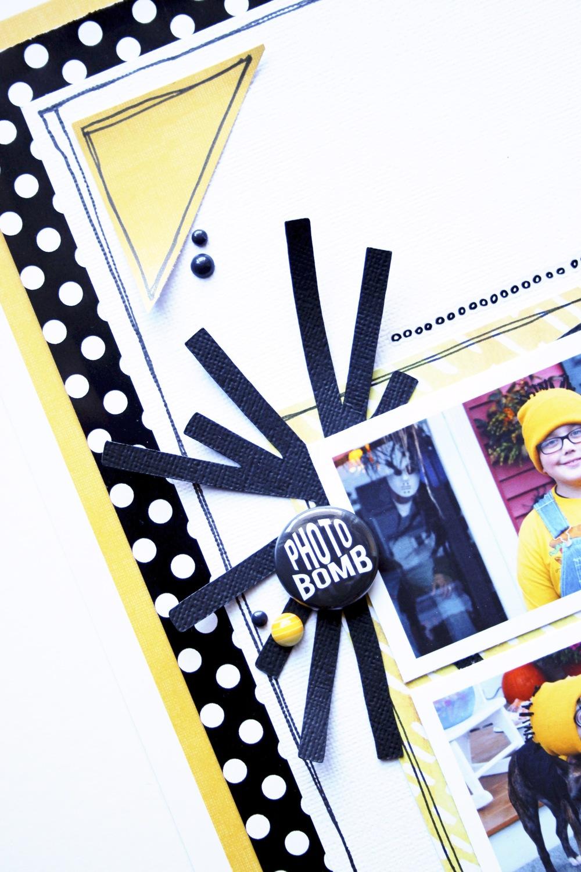 'Minion' Scrapbook Page by mambi Deisgn Team member Mary-Ann Maldonado   me & my BIG ideas