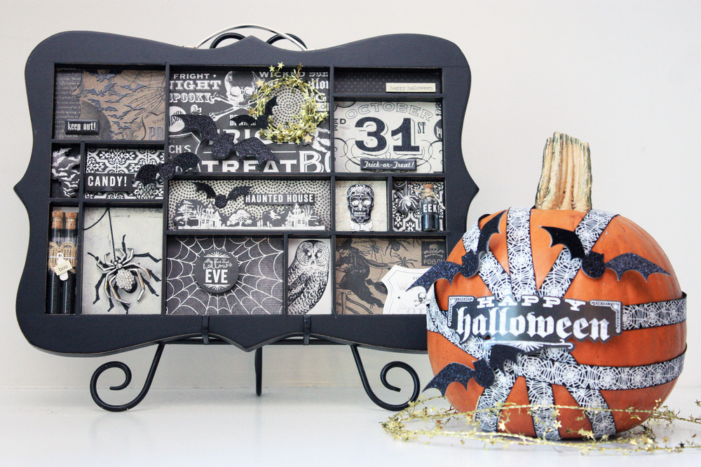 Halloween decor by mambi Design Team member April Orr | me & my Big ideas