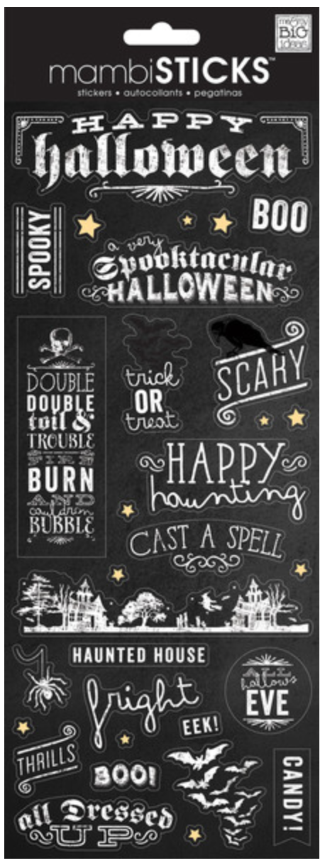 'Happy Halloween' mambiSTICKS Halloween stickers | me & my BIG ideas