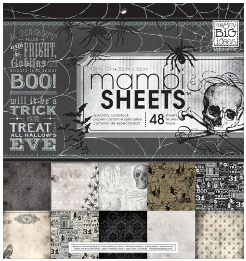 HAUNTED 12x12 mambiSHEETS Halloween paper pad | me & my BIG ideas