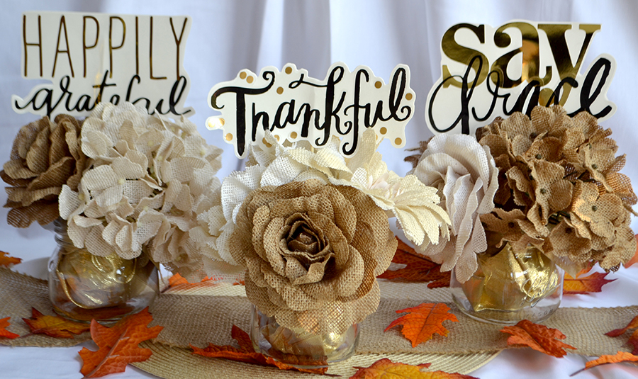 Thanksgiving Centerpieces using jumbo mambiSTICKS | me & my BIG ideas